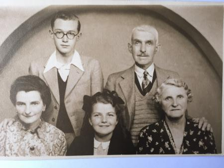 Arthur Cooper with wife and family members