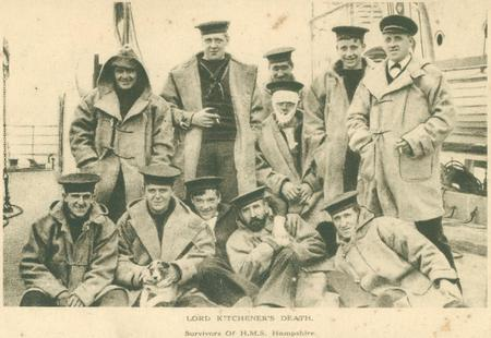 "Profile picture for HMS ""Hampshire"" - 12 Survivors 5 June 1916"
