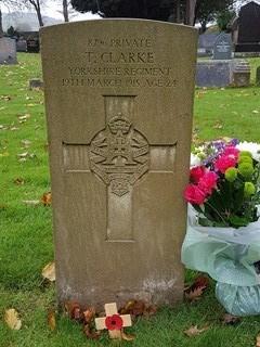 Tom Clarke New Gravestone