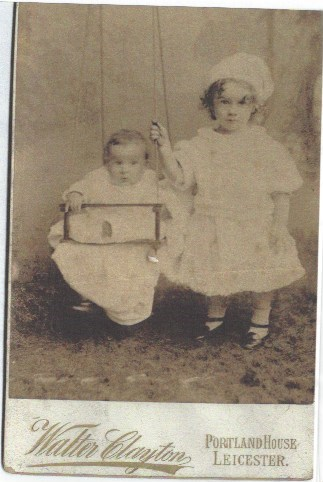 Jacob in a swing with his brother James Francis