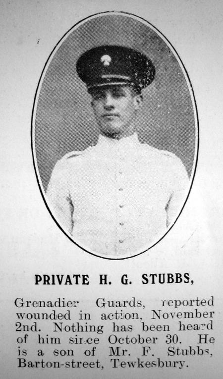 Private Harold Gilbert Stubbs