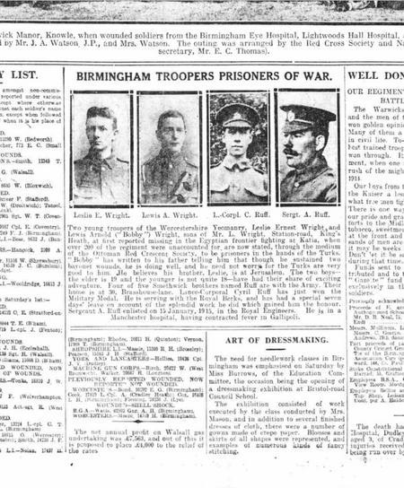 Birmingham Gazette 10 July 1916