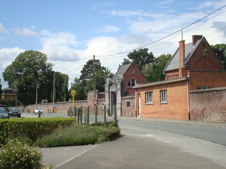 The entrance to Mons Communal Cemetery