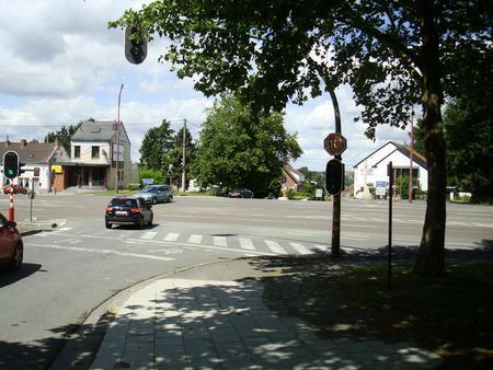 La Bascule crossroads, Mons, Belgium