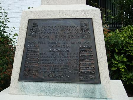 2nd Battalion R.I.Rgt. Memorial, Mons.