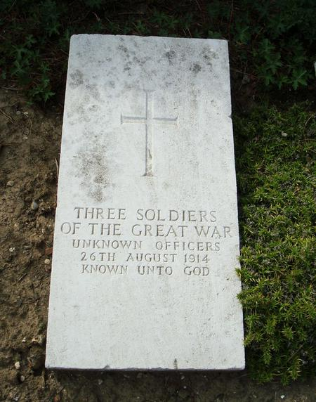 The grave of three unknown officers
