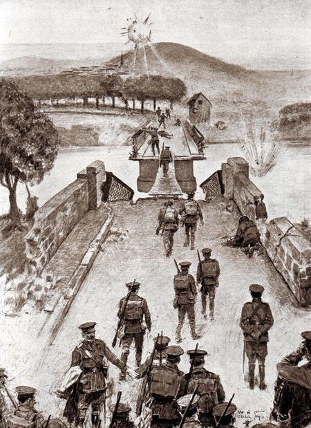 8th Brigade crossing the bridge at Vailly