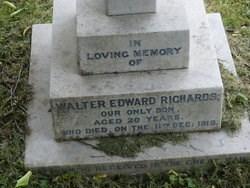 Grave of Walter Edward Richards