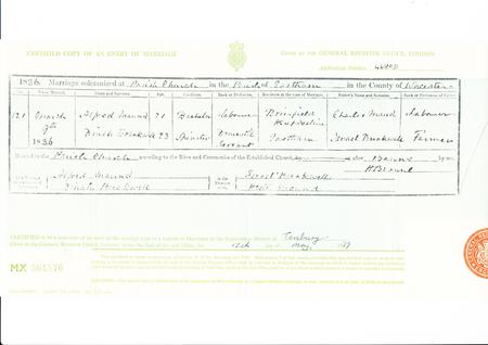 Marriage Certificate Maund-Breakwell