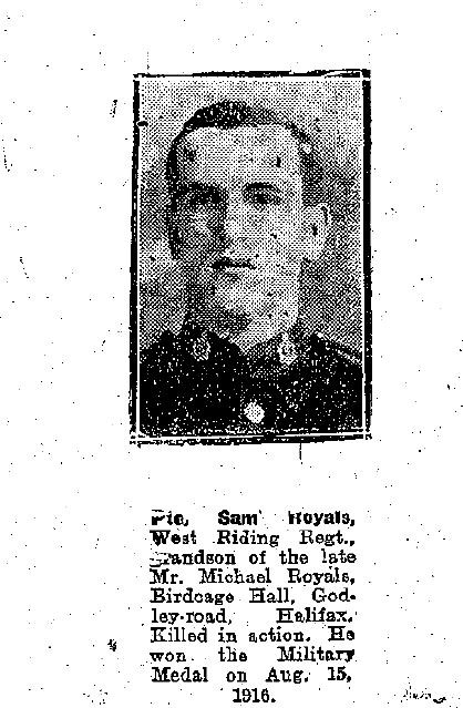 Obituary photo in Halifax Courier
