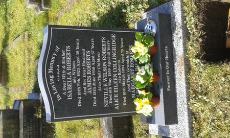 Gravestone of James Roberts