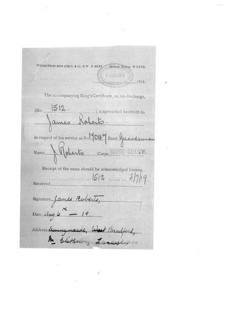 Kings Certificate Dispatch Record (W3553)