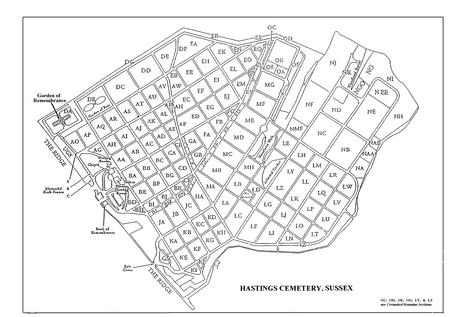 Hastings Cemetery Plan