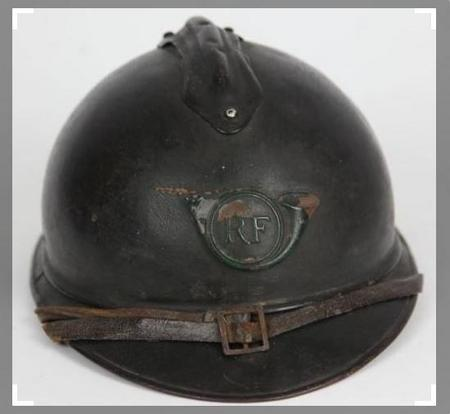 Adrian helmet with Chasseur insignia