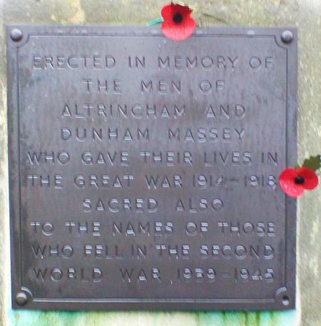 Altrincham War Memorial,