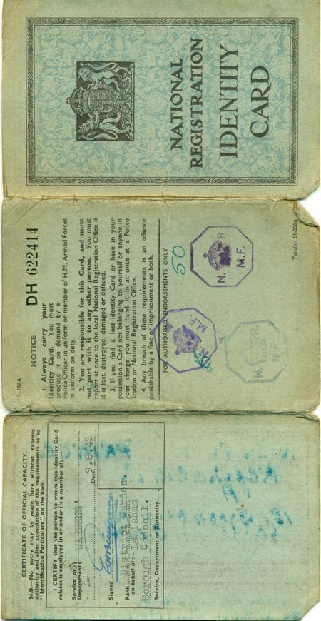 Identity Card - WW2