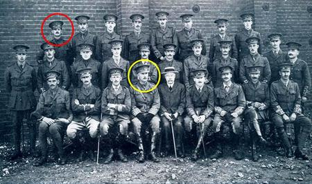 KRRC Officers at Blackdown Camp, August 1914
