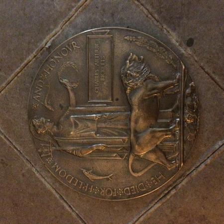 """Memorial Plaque """"Dead Man's Penny"""""""