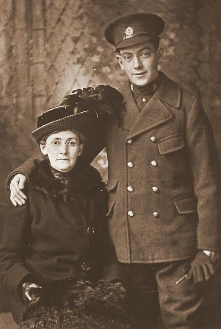 Alfred H Sharp and his mother, Annie (Davey) Sharp