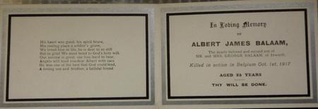Profile picture for Albert James Balaam