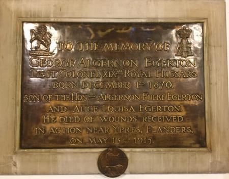George A Egerton Memorial