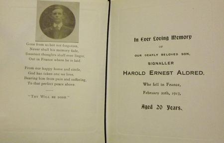 Profile picture for Harold Ernest Aldred