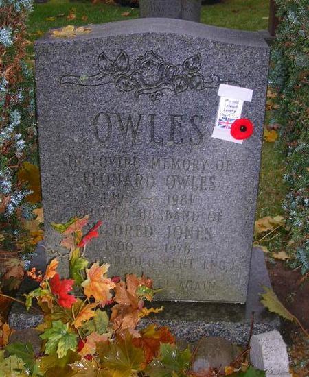 Leanard Owles headstone