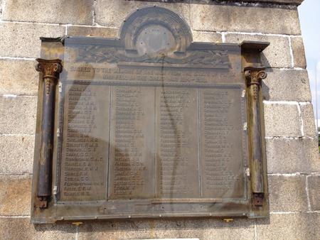 Close-up with Ipoh War Memorial