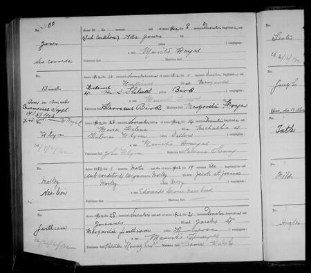 Baptism Registers 1902 St. Werburgh's Chester