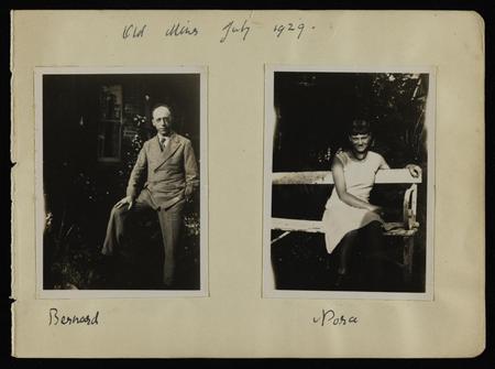 Mounted photographs of Bernard and Nora Meninsky