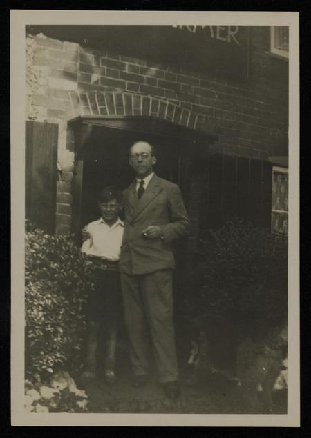 Photograph of Bernard Meninsky with his son David