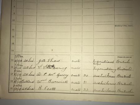 Logbook of HMAT Kanowna Sep 1918 to 1919