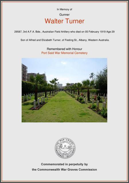 Port Said War Memorial Cemtery