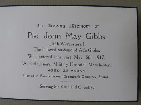 Profile picture for John May Gibbs