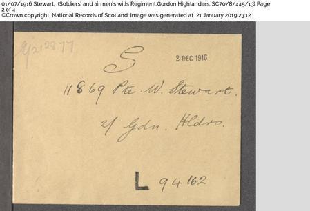 William Henry Stewart - Will page 2