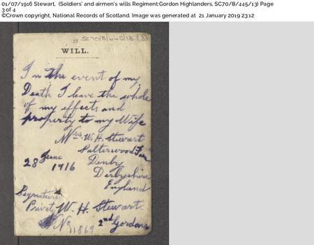 William Henry Stewart - Hand written will page 3