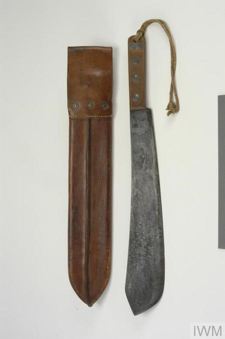Machete, belonging to Guy Nightingale