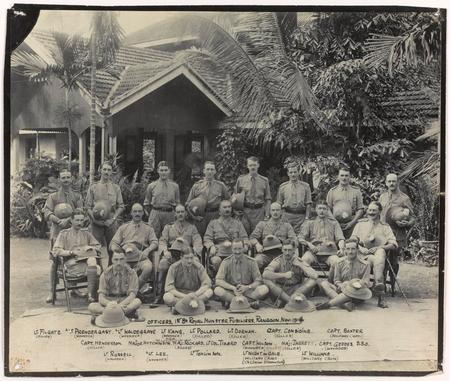 Photograph of officers in Rangoon, November 1914