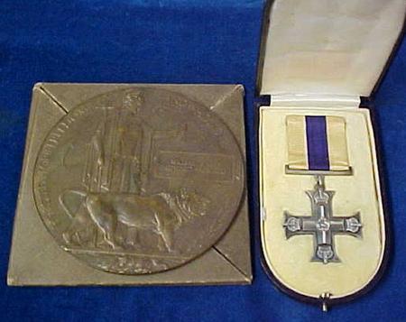 William's memorial plaque and Military Cross