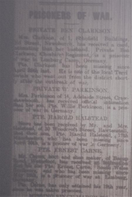 Rossendale Free Press 10 Aug 1918