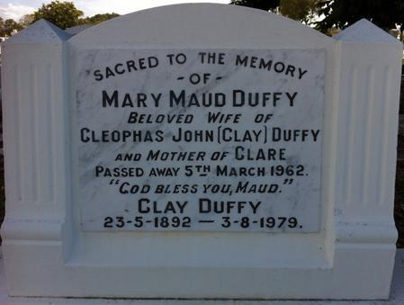 Clay's Headstone