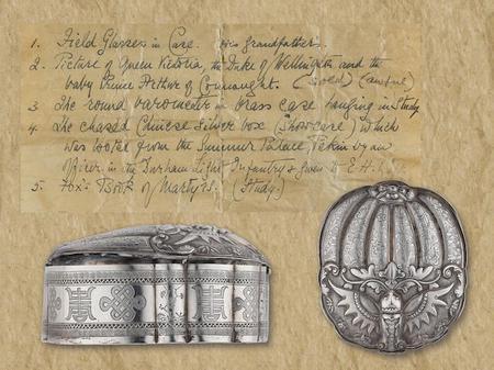 Bonham's Catalogue - Bryan Faifax's silver box