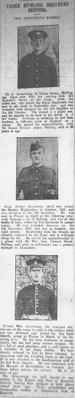 3 Stirling Brothers Serving - 1916