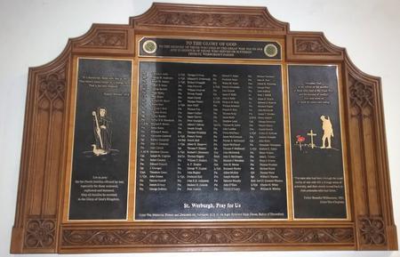 Great War Memorial in St. Werburgh's RC Church,