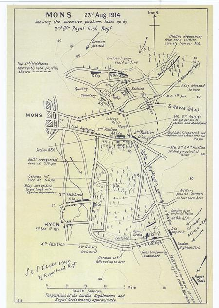 Map of the Battle of Mons
