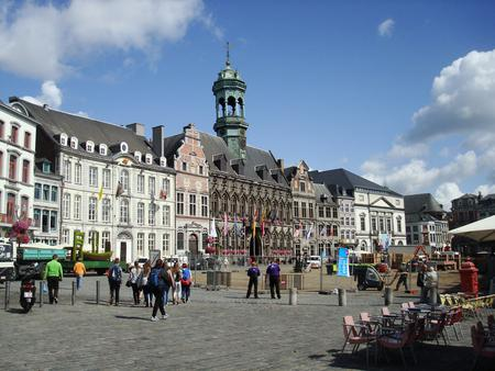 The Town Hall on the Grand-Place, Mons, Belgium