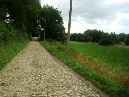 A typical pave (pa-vay) road