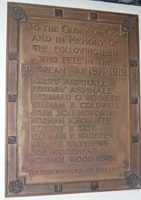 Lane Chapel War Memorial