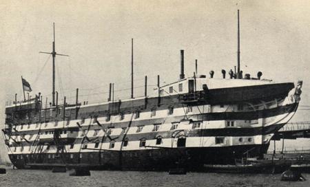 HMS Excellent in 1869