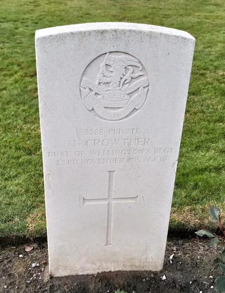CWGC Headstone in Talana Farm British Cemetery